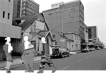   The United Congregational Church of Southern Africa Ezihlabathini at 90 Beatrice Street is featured second from the right with the slanted roof to its left is the sincedemolished head office of Black Community Programmes and an office of the South African Students Organisation   MR Online