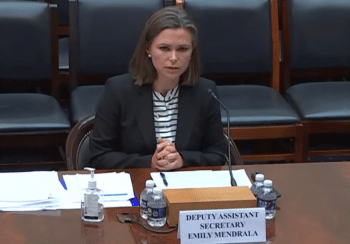   The deputy assistant secretary of the State Departments Bureau of Western Hemisphere Affairs Emily Mendrala   MR Online
