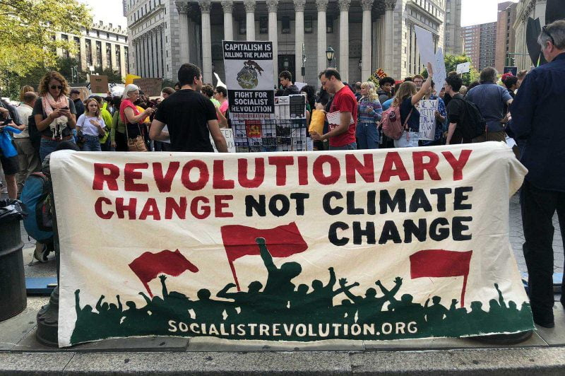 Revolutionary Change Not Climate Change – Socialist Revolution NYC Climate Strike Contingent