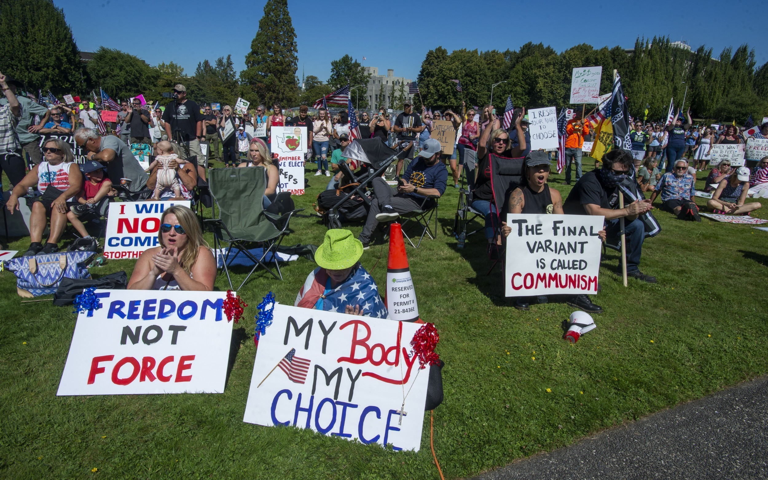 Vaccine Mandate Protestors
