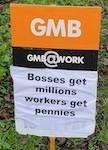A GMB placard