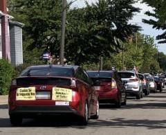Car caravan to oppose U.S blockade on Cuba.