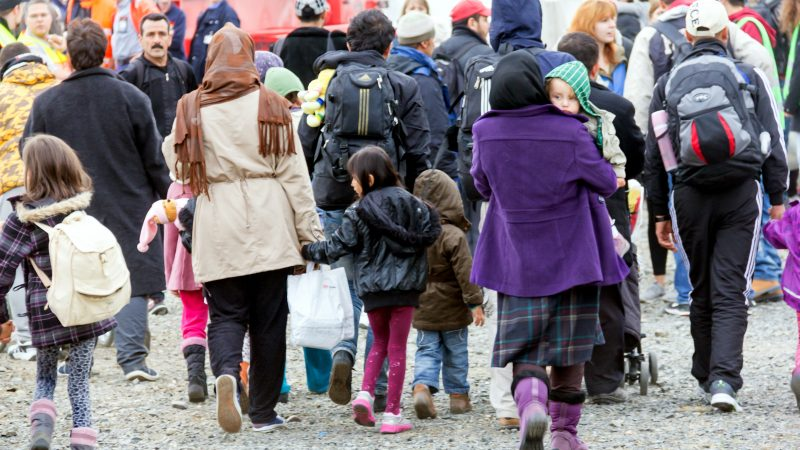 Arrival of refugees in Germany